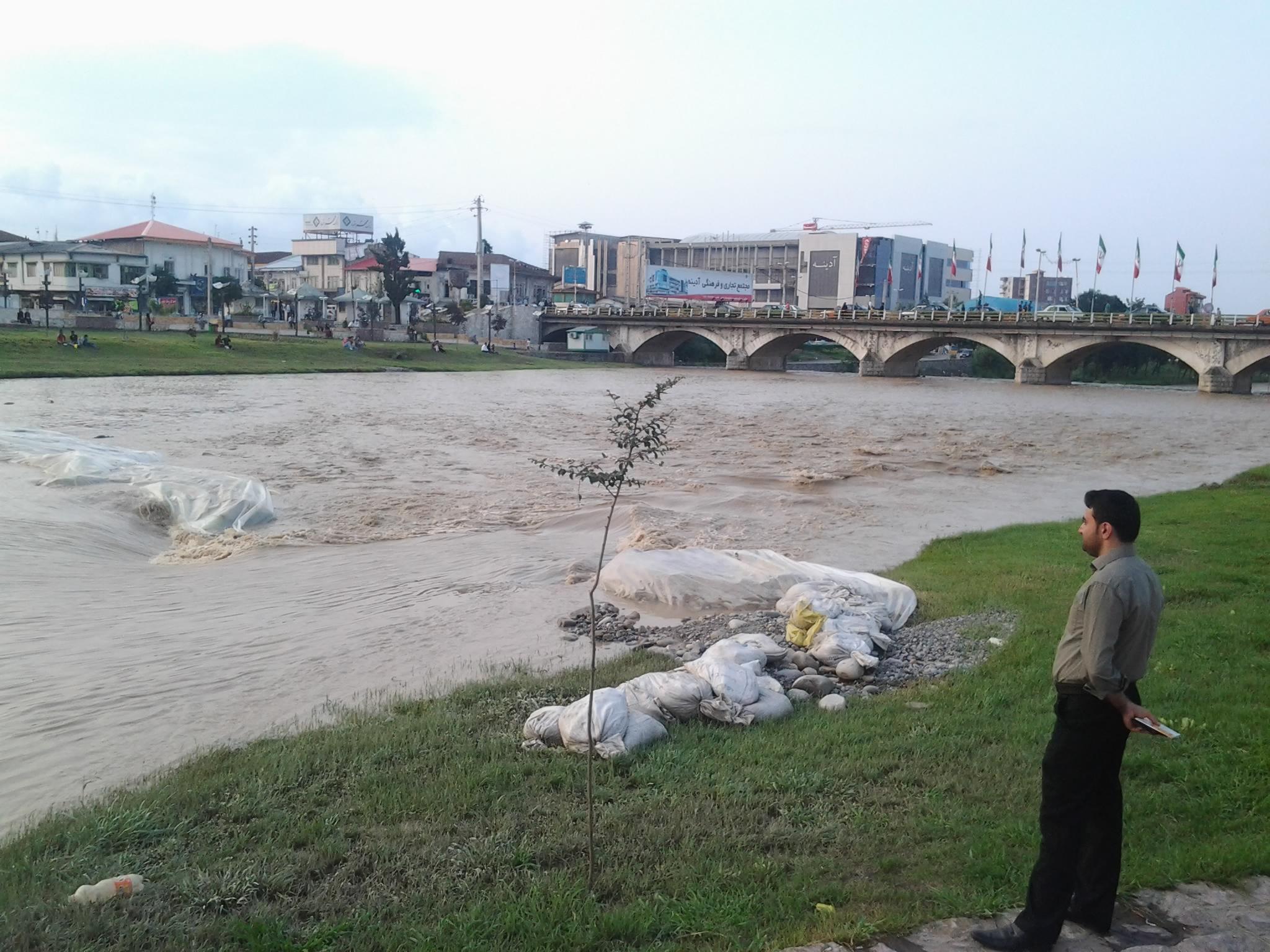 آب بند پل چشمه کیله تنکابن