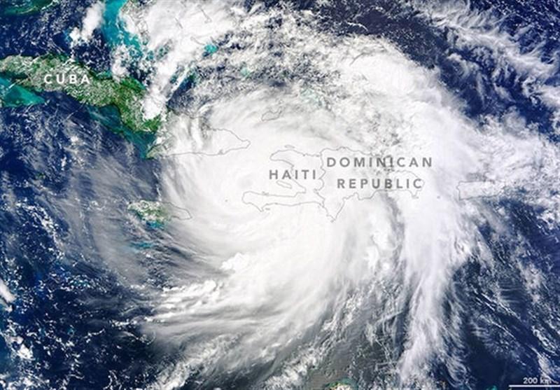 حرکت طوفان متیوبصورت شماتیک