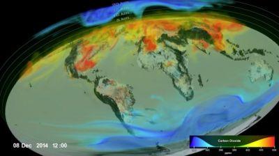 چگونه دی اکسید کربن در جو منتشر می شود؟